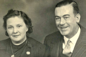 Iris's parents, Mary and Harry